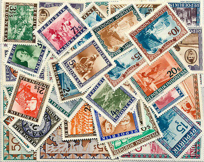 Indonesia - 50 Different Mnh Stamps [30601] + Free Gift