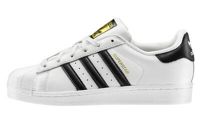 Adidas Superstar Originals C77124 Bianca Black Scarpe Donna Uomo Shoes Sneakers