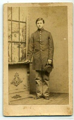 Civil War Soldier CDV-Looking Nervous!
