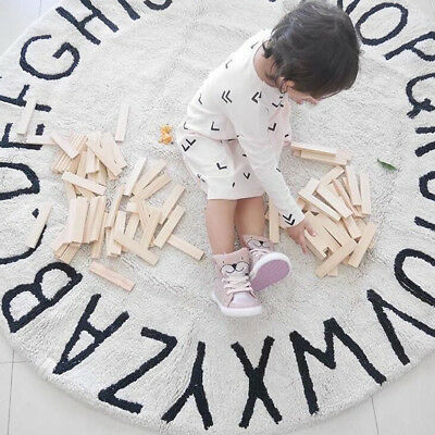Letter Print Floor Rug Indoor Baby Game Gym Play Mats Infant Crawling Pad
