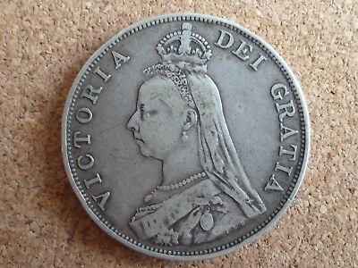 Queen Victoria 1889 Silver Double Florin with Jubilee head