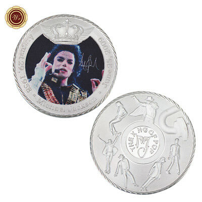 WR Michael Jackson SILVER Collectors Coin MJ King of Pop Music Memorabilia Gifts
