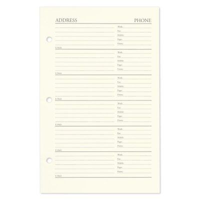 Gallery Leather Desk Address Book Refill Pages