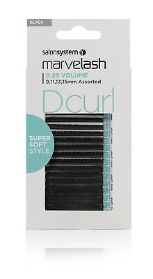 Salon System Marvelash D Curl 0.20 Volume Super Soft Strip False Eye Lashes