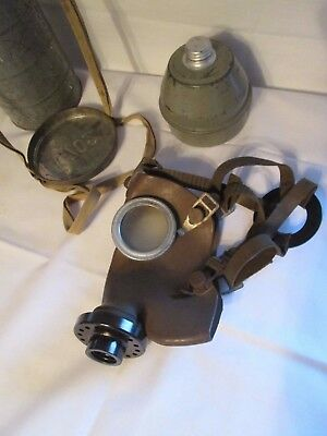 Rare WW2 Belgian Gas Mask L702  scarce size 2 Model With Carry Case,GREAT CON