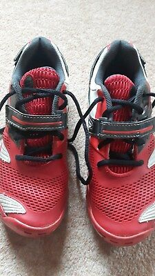 Babolat tennis trainers size 4.5 shoes boys black red non marking vgc eu 37