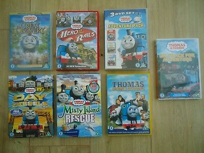 Big Bundle of Thomas the Tank Engine DVDS - Day of the Diesels, Misty Island etc