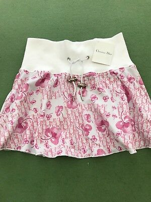 Christian Dior girls skirt age 4 pink and white