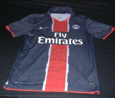 PSG Paris Saint Germain Football Medium Mans Players Nike Code 7 Home Jersey