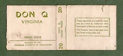 Old EMPTY cigarette packet Don Q by Granville Manchester  size 20  #212