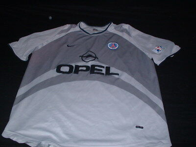 PSG Paris Saint Germain Football XL Extra Large Man Vintage Nike Away Top France