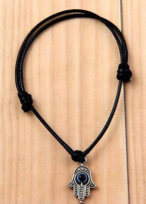 6pcs black fashion hand pendant bracelet 22cm