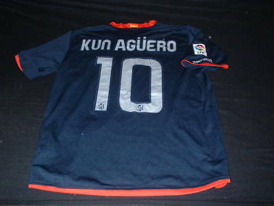Atletico Madrid Spain Espana Football Medium Mans Kun Aguero 10 Jersey Argentina