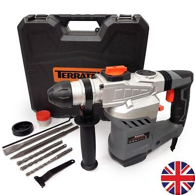 1500W Electric Rotary Hammer Drill Sds Impact Drill Carry Case Chisels & Bits