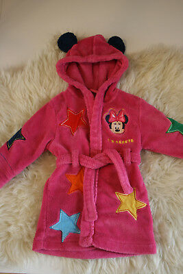 baby girl dressing gown Disney 12-18 months minie mouse