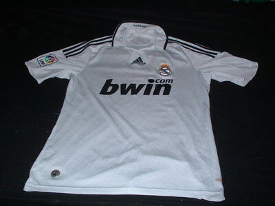 Real Madrid Spain Espana La Liga Football Medium Mans Adidas Made Home Jersey