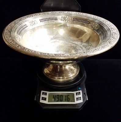 9.5 inch Sterling Silver Bowl 490 grams total weight