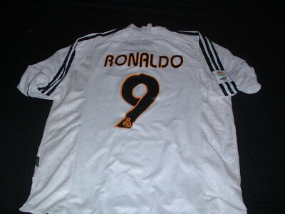 Real Madrid Spain Espana La Liga Football Medium Mans Vintage Ronaldo no9 Jersey