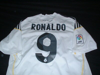 Real Madrid Spain Espana La Liga Football Large Mans Ronaldo No9 Home Jersey