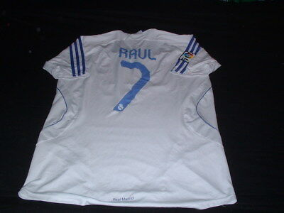 Real Madrid Spain Espana La Liga Football Large Mans Raul No7 Home Jersey