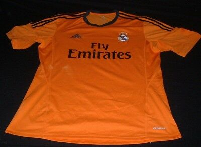 Real Madrid Spain Espana La Liga Football Large Mans Adidas Made Away Jersey