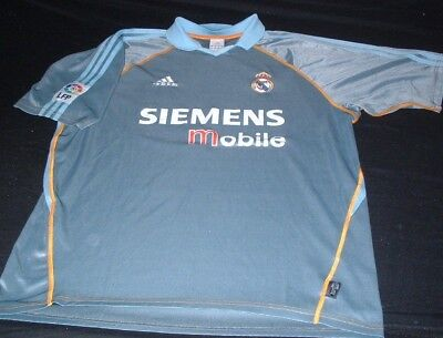 Real Madrid Spain Espana La Liga Football Large Mans Vintage Adidas Away Jersey