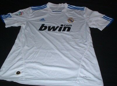 Real Madrid Spain Espana La Liga Football XL Extra Large Mans Adidas Home Jersey