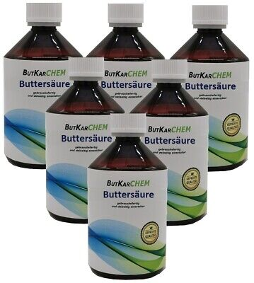 ButKarCHEM 5000ml (10x500ml) Buttersäure 99,5 % Butyric Acid