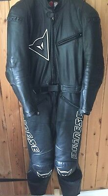 Dainese Luce Men's 2 Piece Leather Motorcycle Suit (50 EU/40 UK)