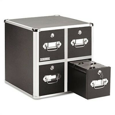 Four-Drawer CD File Cabinet, Holds 660 Folders/240 Slim/120 Std. Cases