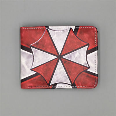 Movie Resident Evil Logo wallets Purse Multi-Color 12cm Leather free shipping
