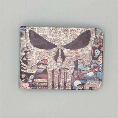 Marvel Comics The Punisher The skeleton Logo mens leather wallet free shipping