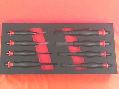BRITOOL MARQUE OF SKILL HEAVY DUTY PIN PUNCH COLD CHISEL SET In Foam