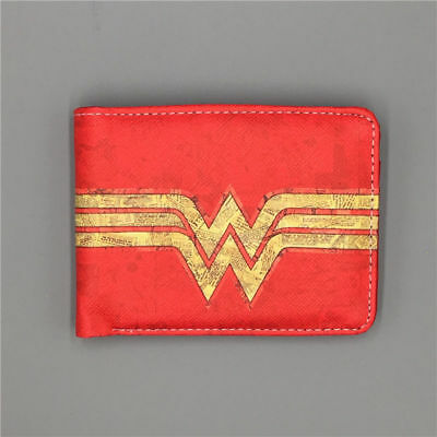 DC Wallet Wonder Woman wallets Purse Red short Leather wallet free shipping