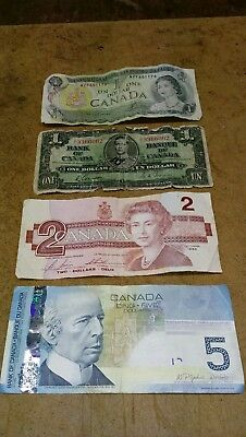 1937 & 3 other notes-Bank of Canada Paper Money