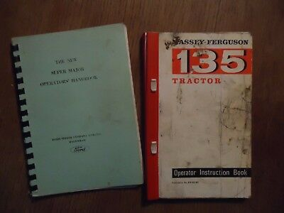 Massey-Ferguson 135 and New Super Major Fordson tractor manuals