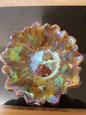 vintage carnival glass bowl