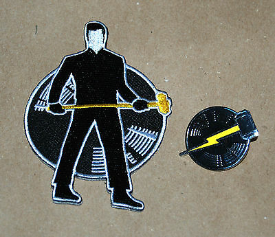 Third Man Records Jack White Store Expansion Patch Pin Expander Lightning Bolt