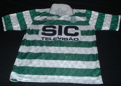 Sporting Clube de Portugal Football Large Mans Rare Vintage Saillev Made Jersey