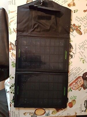 Folding Solar Panel USB Travel Camp Portable Battery Charger.