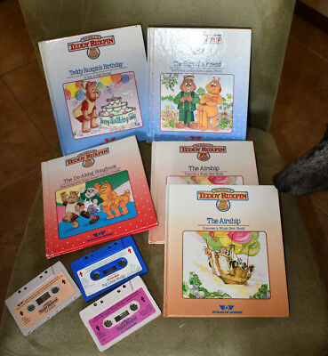 Vintage Teddy Ruxpin Cassette Tape and Book lot
