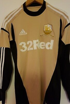 Swansea City Rare Centenary 1912 - 2012 Goalkeepers Gold Shirt Size Adult Small