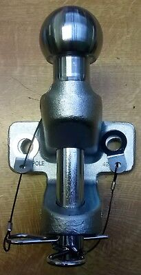 """Universal Combined 50mm Towball Hitch and 1"""" Pin & Jaw Coupling Tow ball"""