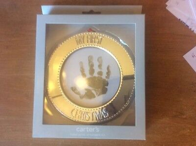 My First Christmas Hand Print Ornament Kit Carter Brand New