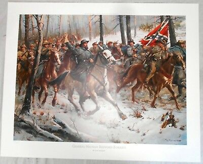 General Forrest by Don Troiani Limited Edition Print 328/1250 Signed w/COA