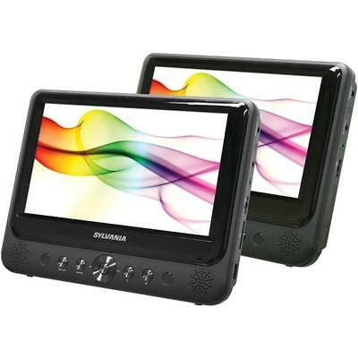 """Sylvania 9"""" Dual-Screen Dual-DVD Portable DVD Player - View sharing feature"""