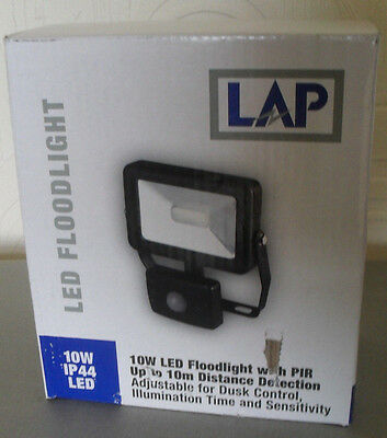 10W Led Floodlight PIR Motion Sensor, compact and slimline