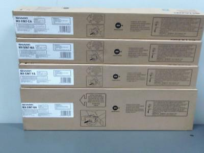New Genuine SHARP MX-51NT-BA MX-51NT-YA MX-51NT-MA MX-51NT-CA Color Toner Set