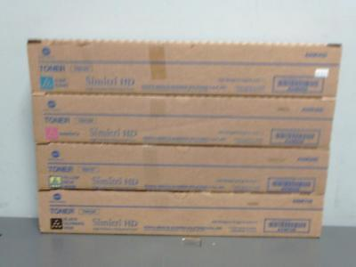New Genuine Konica Minolta TN512C M Y K Full Toner Cartridge Set