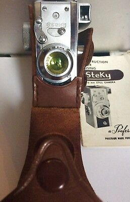 Vintage Steky III Beautiful rare subminiature 16mm spycam MADE IN OCCUPIED JAPAN